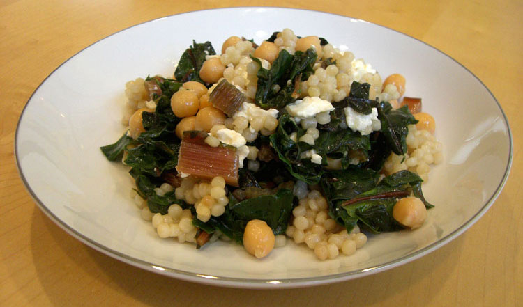 Cous Cous with Swiss Chard and Feta