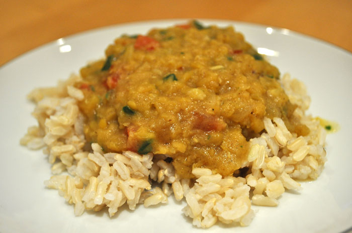 Dal (Spiced Red Lentils)