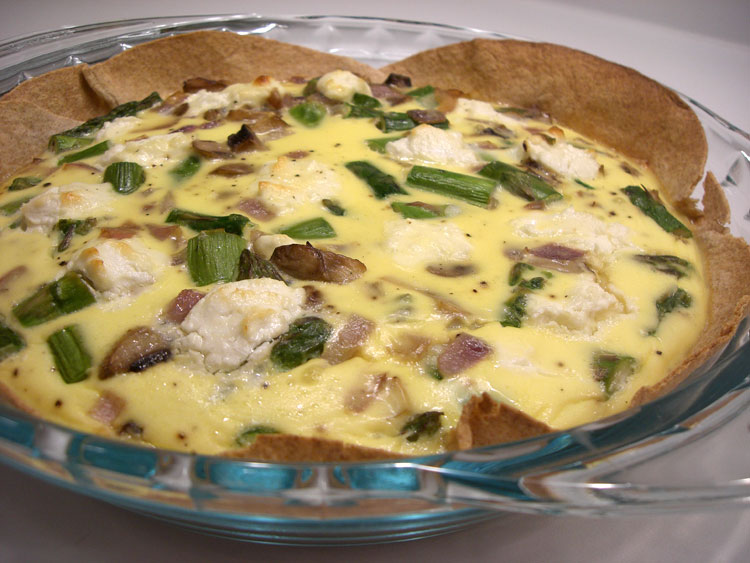 Goat Cheese and Asparagus Quiche