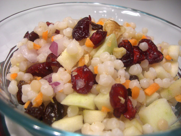 Israeli Couscous with Apples, Cranberries, & Walnuts